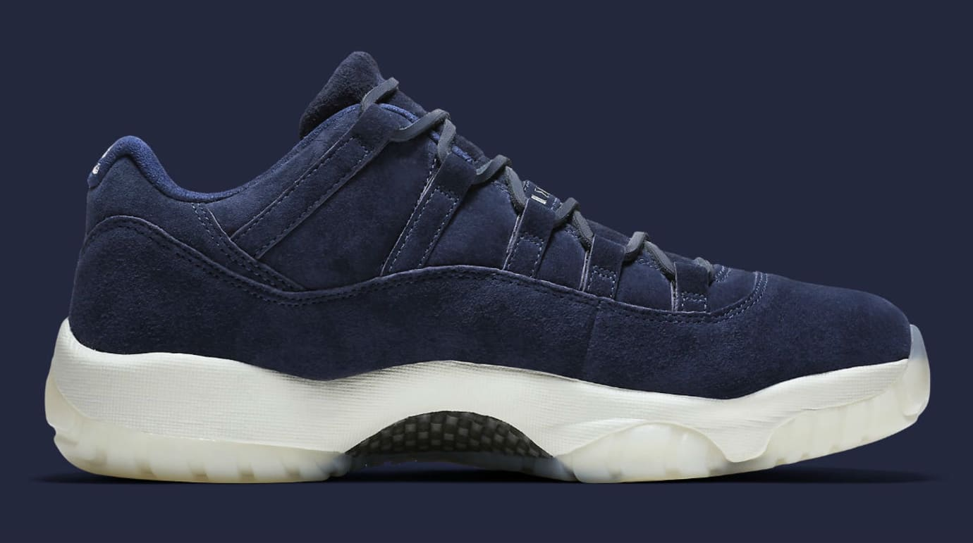 cheap for discount fe84f e7117 Air Jordan 11 XI Low Jeter RE2PECT Release Date AV2187-441 Medial