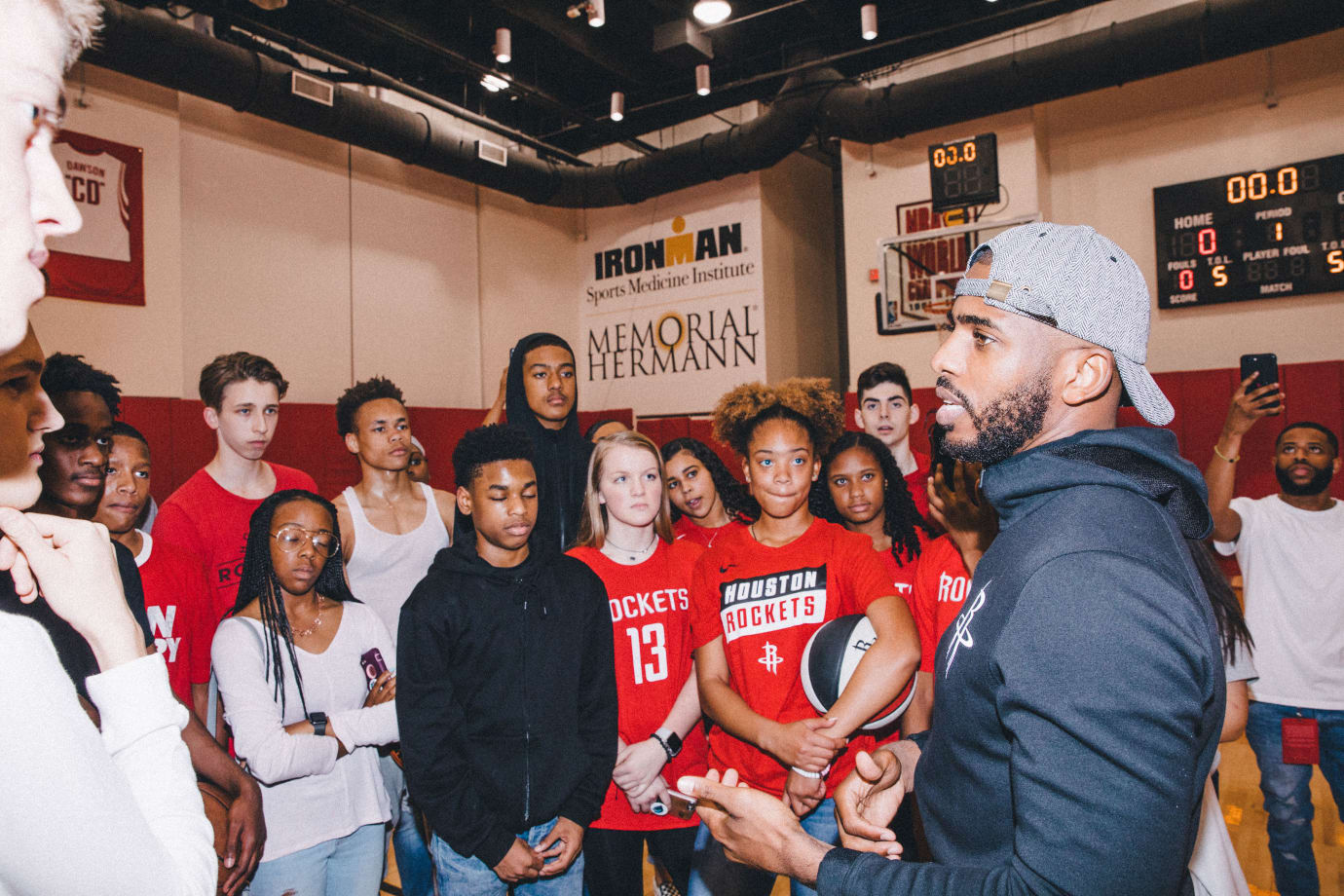 Patricia E. Paetow High School Students and Chris Paul