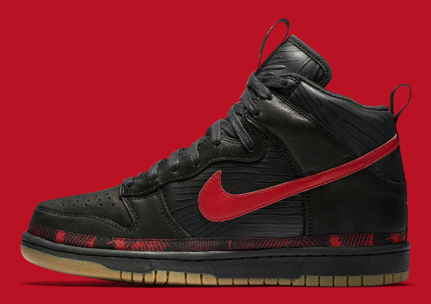 huge discount d55dc 6c877 Nike N7 Dunk High Black Red Release Date Profile AA1126-001