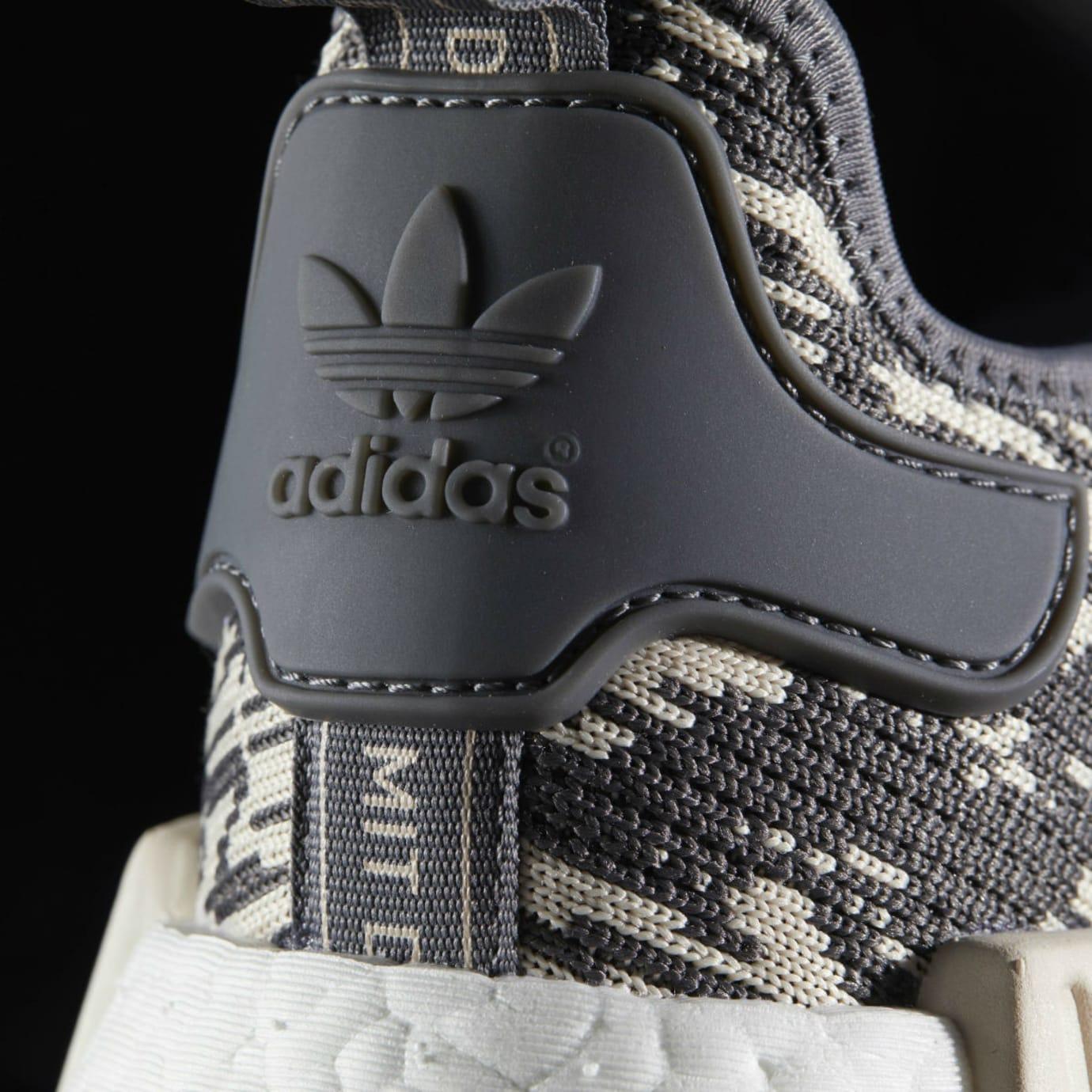 Adidas NMD Grey Linen Camo Release Date Heel