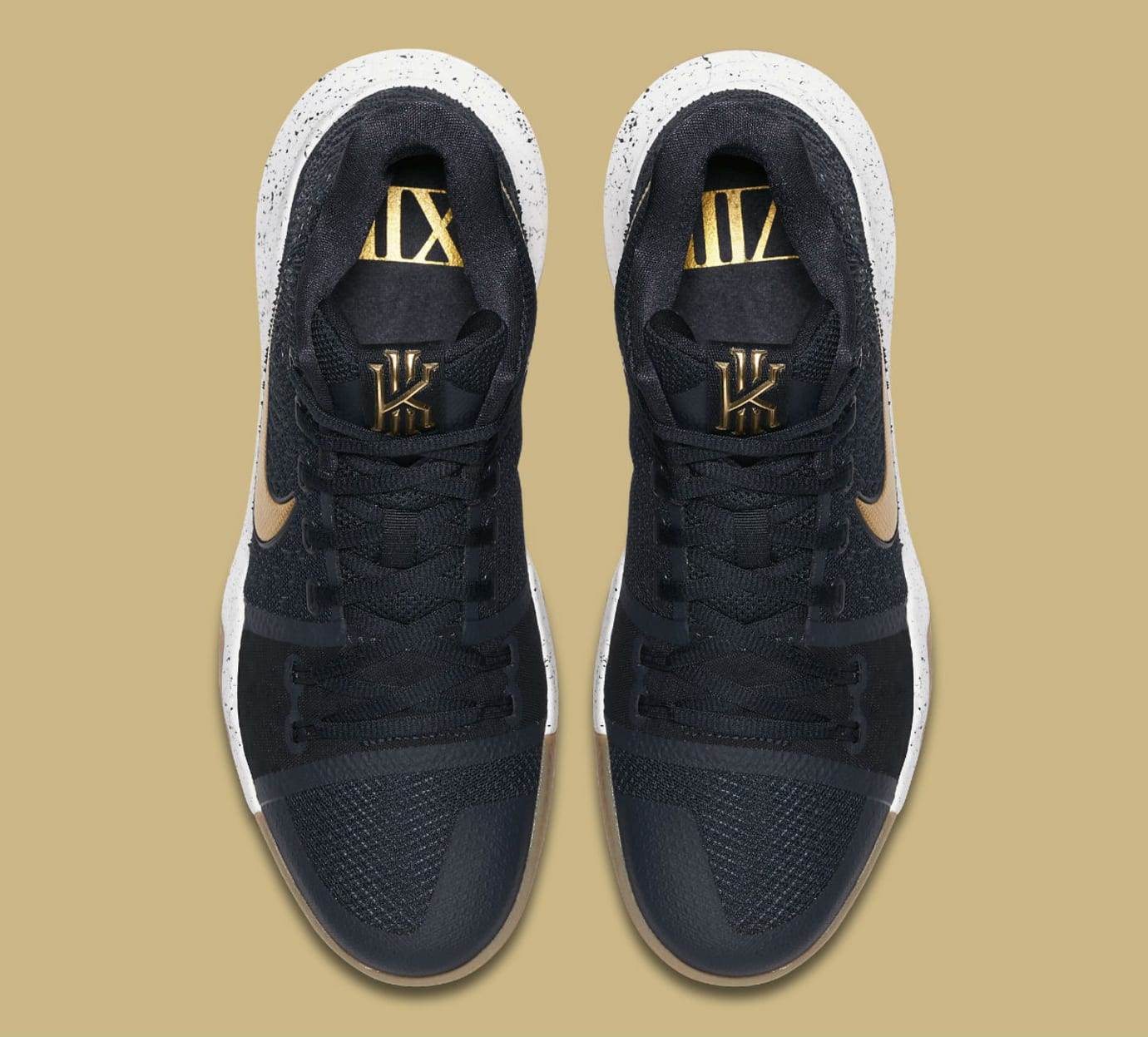 Nike Kyrie 3 Black Sail Metallic Gold Cool Grey Release Date Top 852395-400