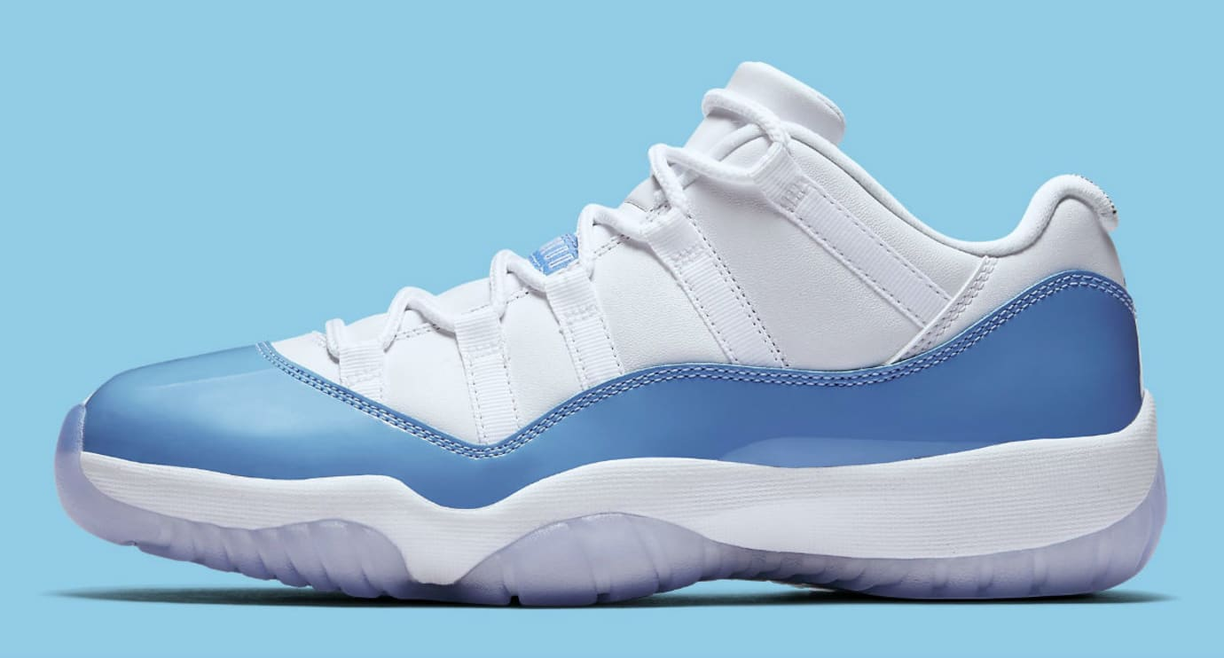 Air Jordan 11 Low UNC University Blue Release Date Profile 528895-106