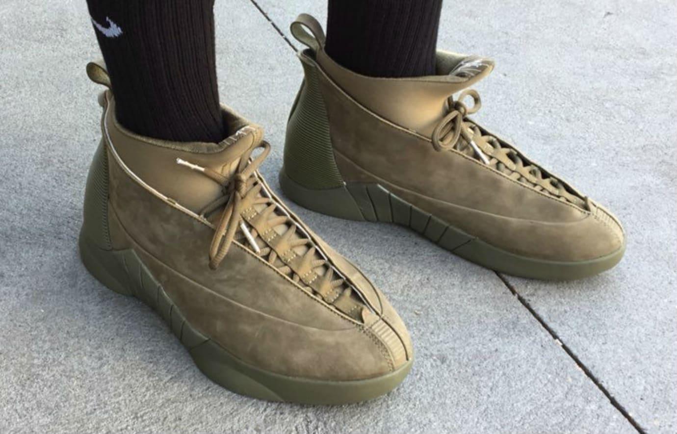PSNY x Air Jordan 15 Olive Suede