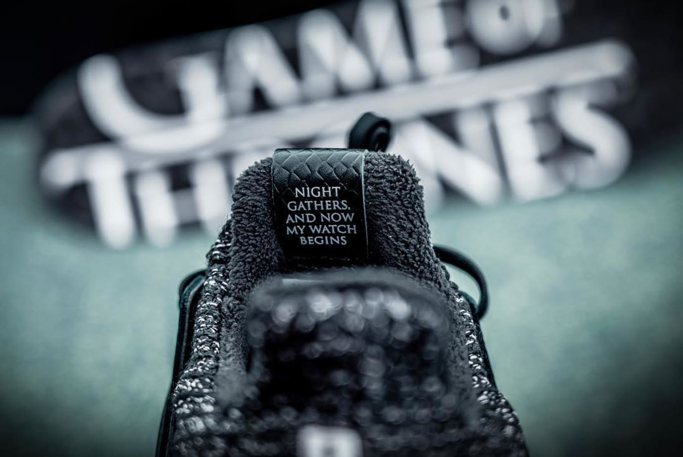 Game of Thrones x Adidas Ultra Boost 'Night's Watch' (Tongue)