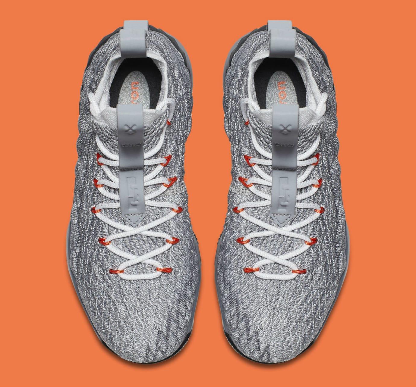 9936ab019b1 Nike LeBron 15 GS Black Safety Orange Dark Grey Wolf Grey Release Date  922911-080