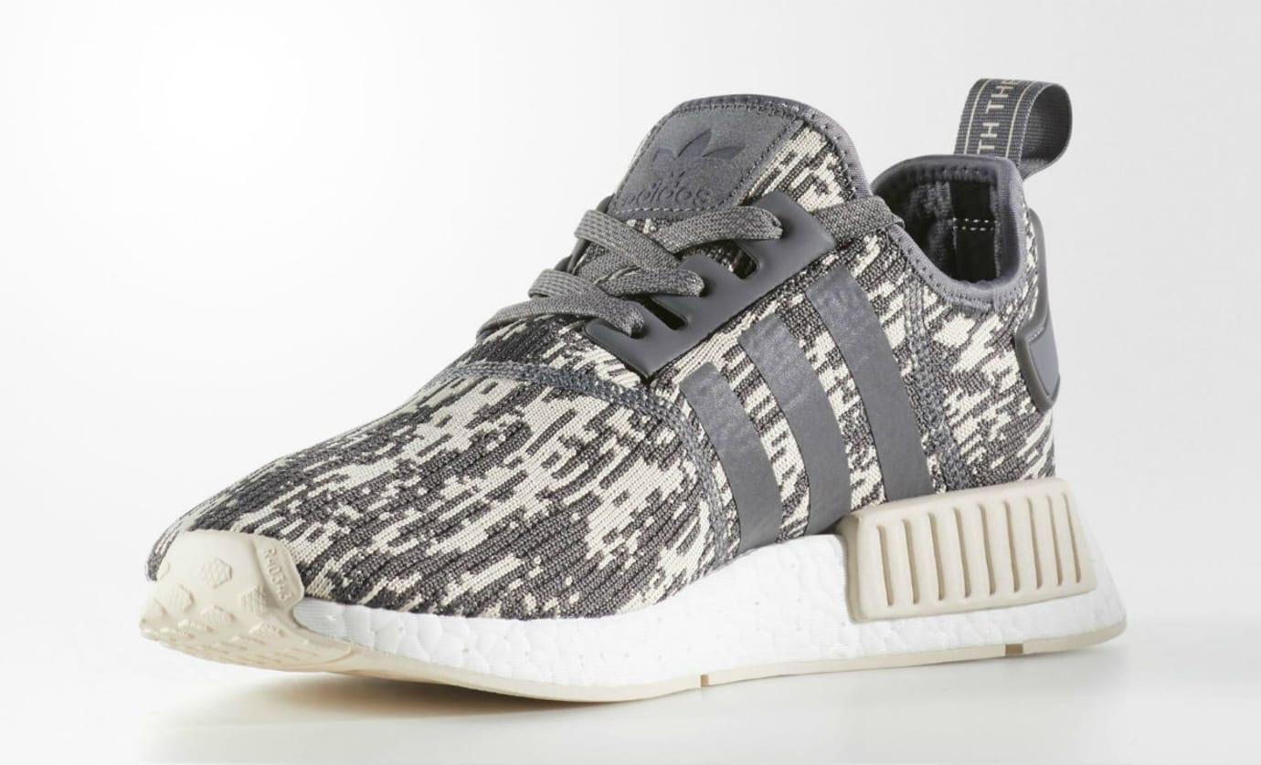 Adidas NMD Grey Linen Camo Release Date Medial