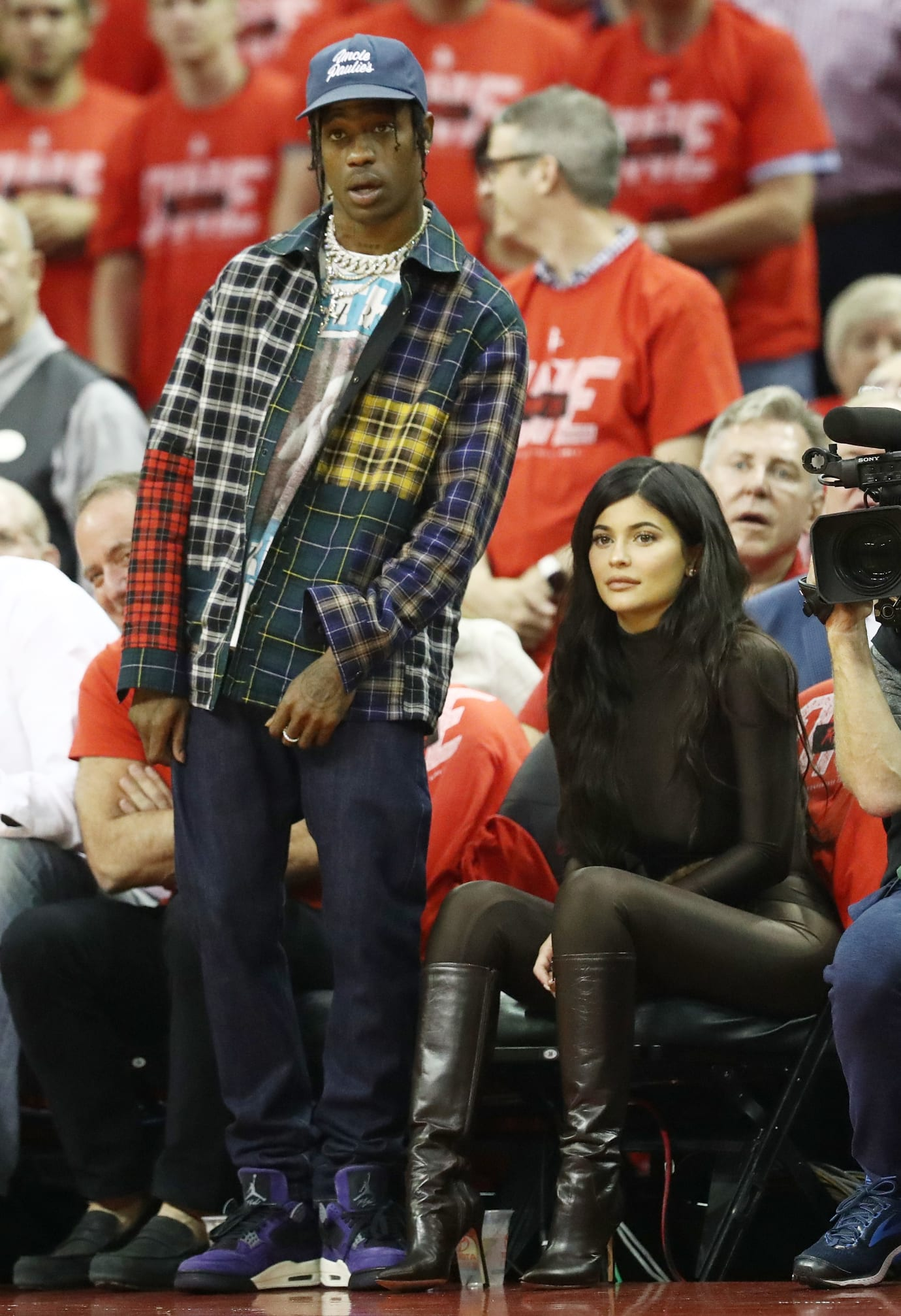 online retailer 43a9d de0e7 Travis Scott Debuts Unreleased Air Jordan 4 in Purple | Sole ...