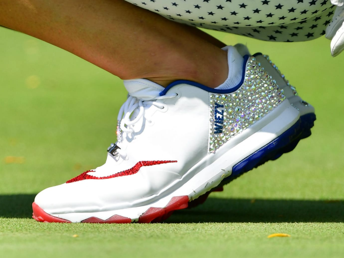 Michelle Wie Nike FI Flex Swarovski Crystal Golf Shoes