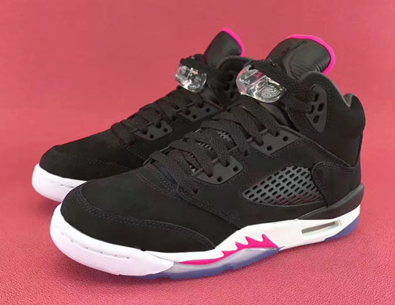 Air Jordan 5 GS Deadly Pink Release Date Left 440892-029