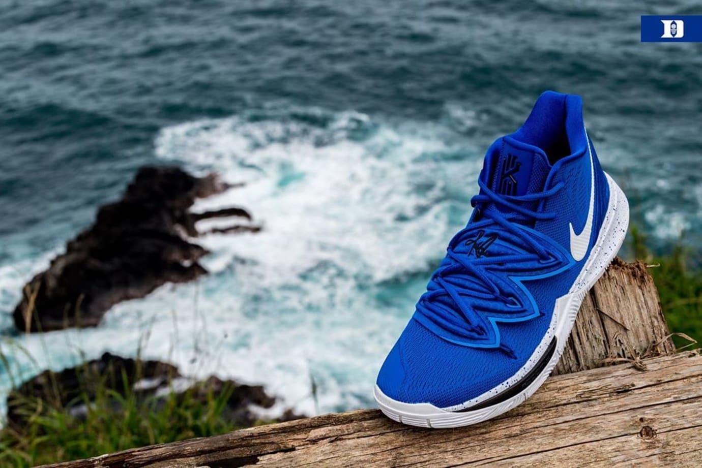 Nike Kyrie 5 'Duke' PE Blue (Front)
