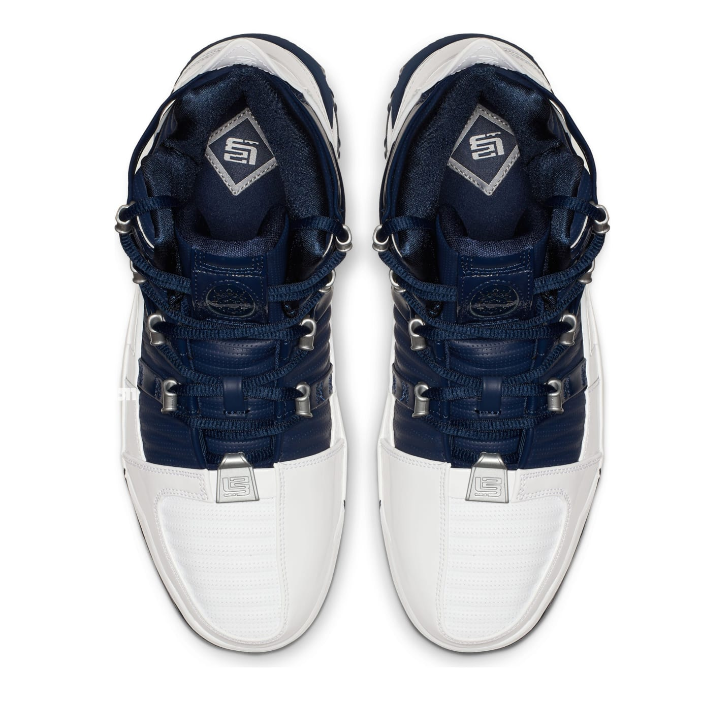 dc4fe21752d cheapest image via us11 nike zoom lebron 3 white navy blue silver top be2ad  72e6c