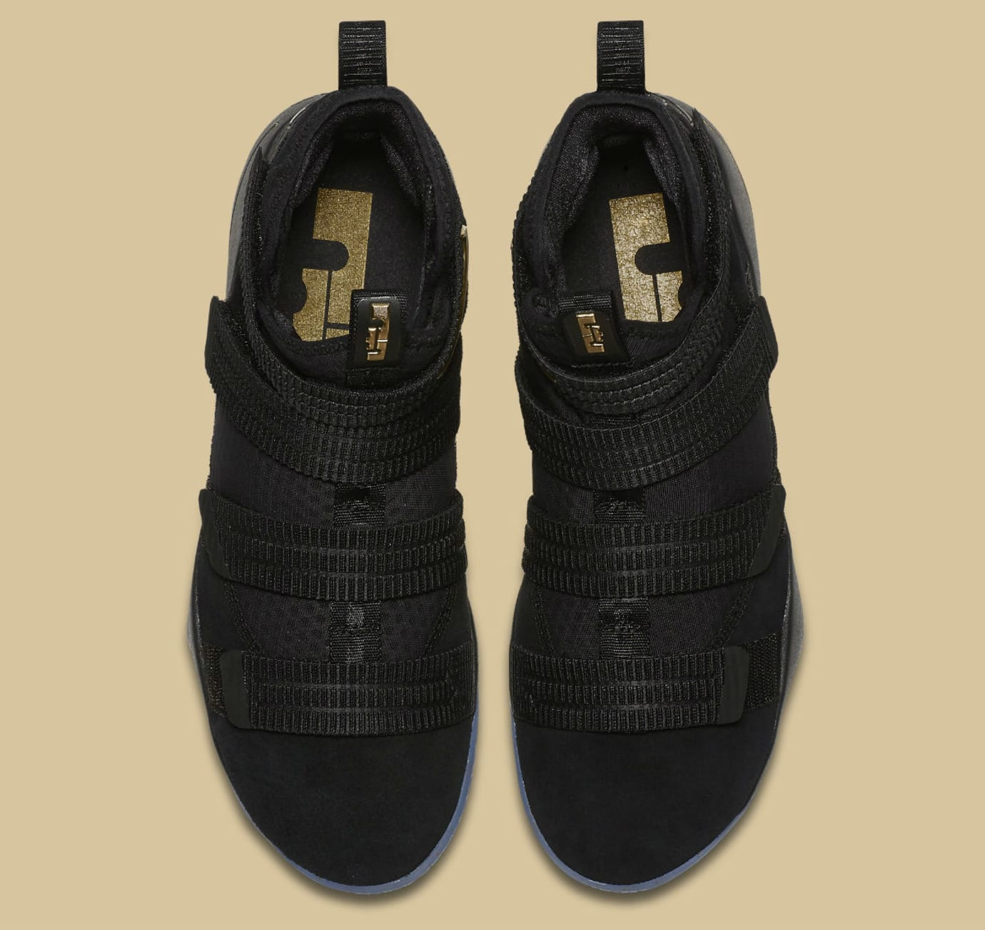 Nike LeBron Soldier 11 SFG Black/Gold Finals Release Date Top