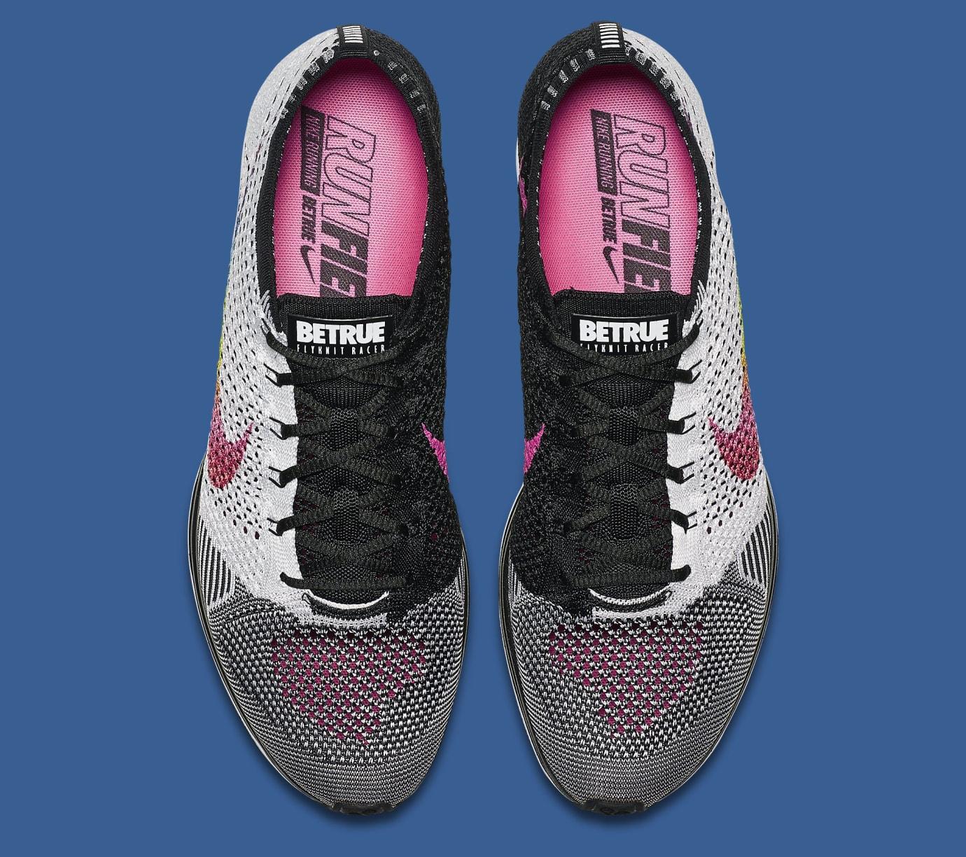 4d172ad879903 Image via Nike Be True Nike Flyknit Racer 902366-100 Top