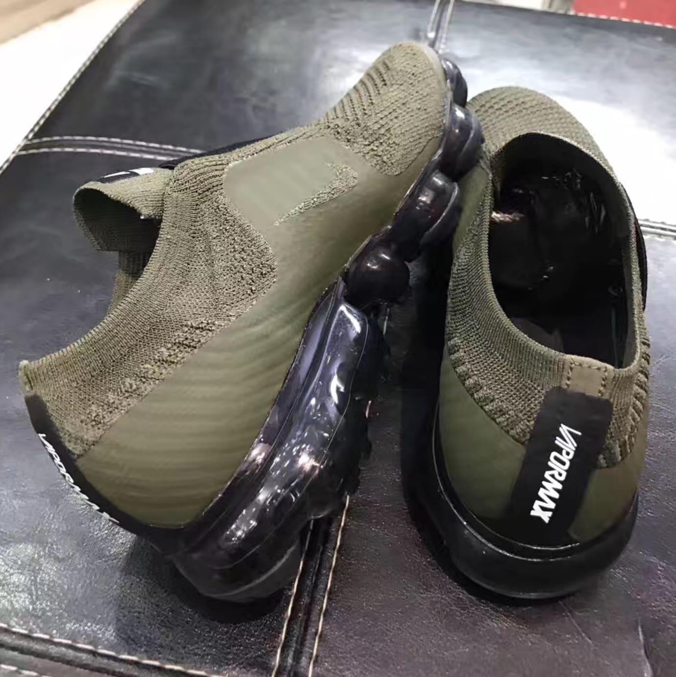 4c0bcf8de43 Image via Sneakerfiles Nike VaporMax Olive Black (Pair)