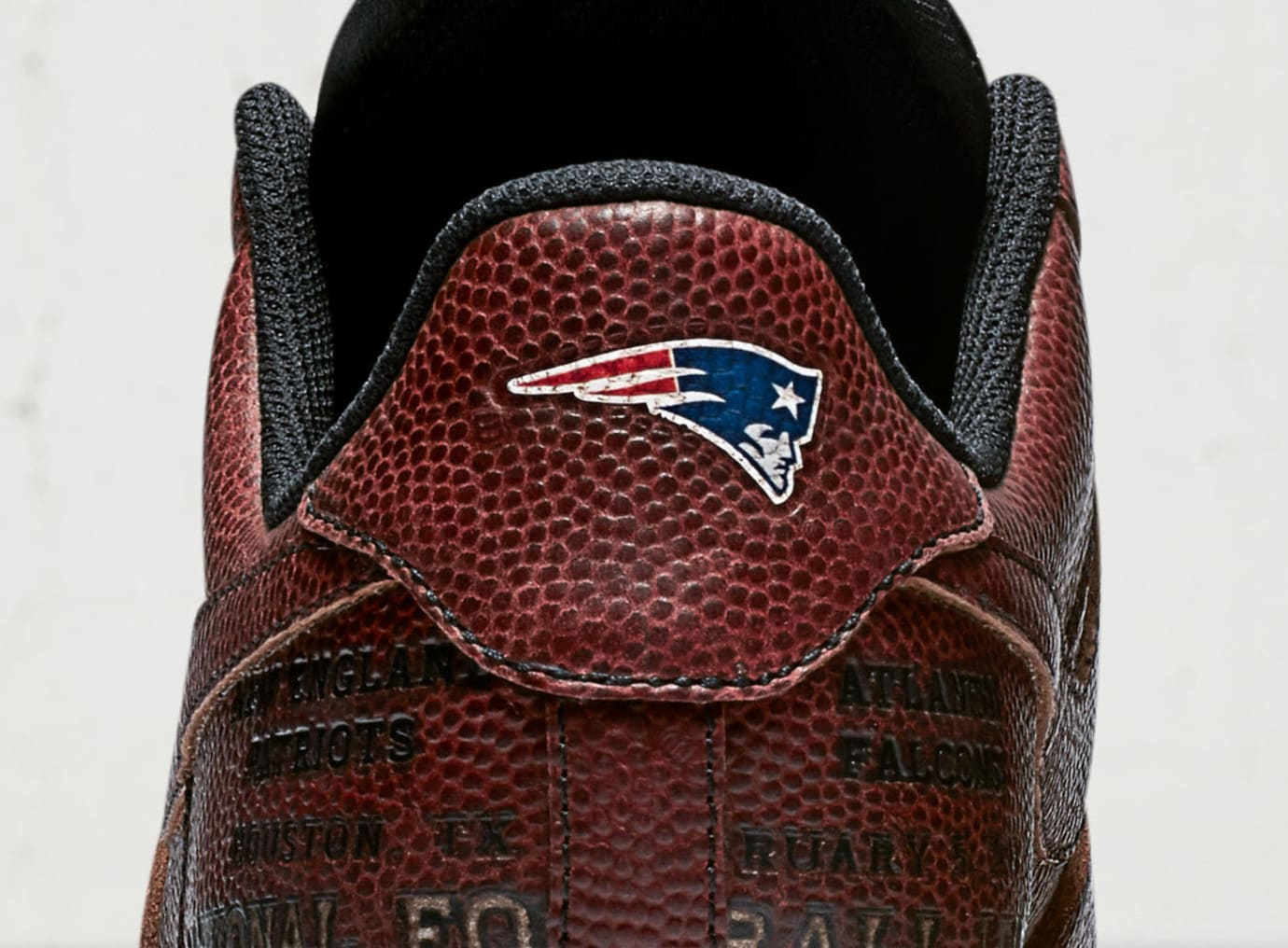Patriots Nike Air Force 1 Super Bowl 51 Heel