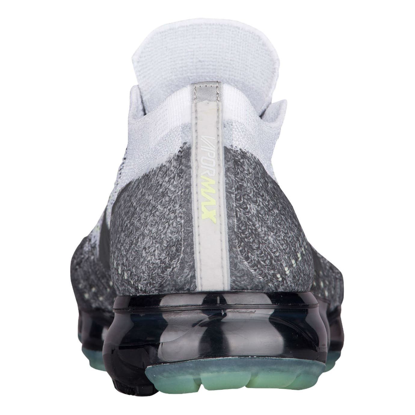 Nike Air VaporMax Flyknit Heritage Pack Pure Platinum White Dark Grey Release Date 922915-002 Heel
