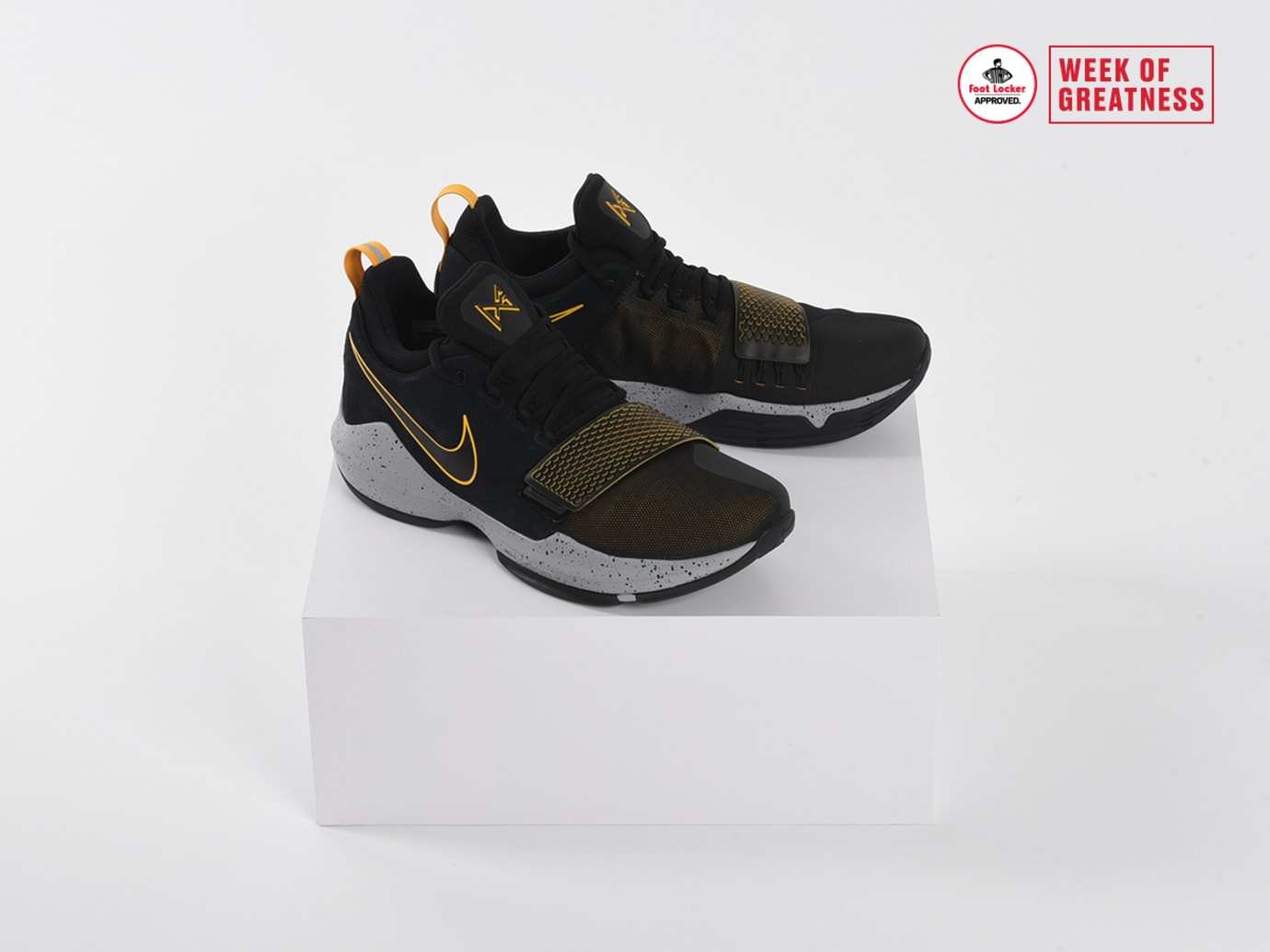 size 40 beb42 75774 Foot Locker Week of Greatness Nike PG1 Black Gold