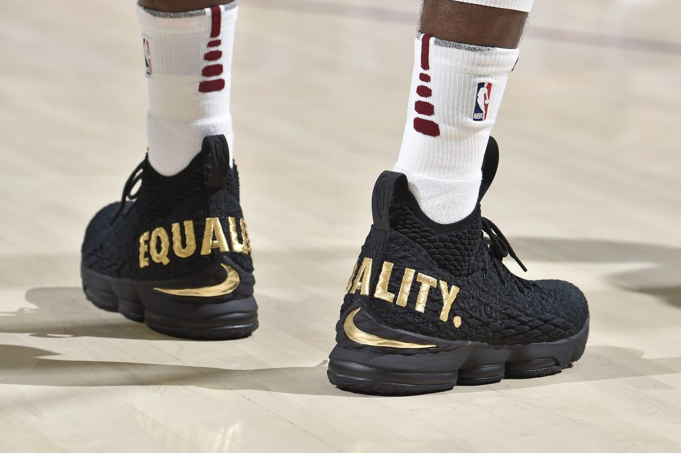 4929a923e19 LeBron Debuts Nike LeBron 15 PE During Season Opener