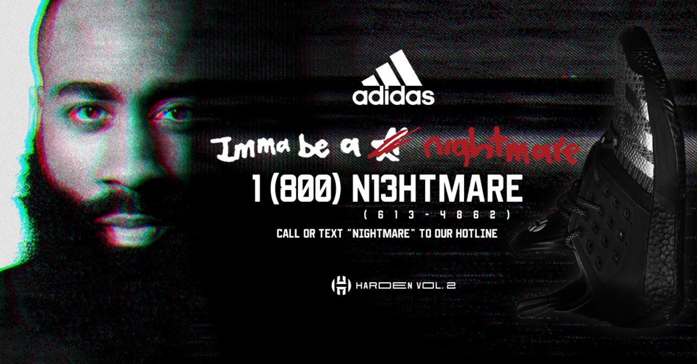 e007b9194c92 Adidas Harden Vol. 2 Nightmare Release Date F34361 Hotline