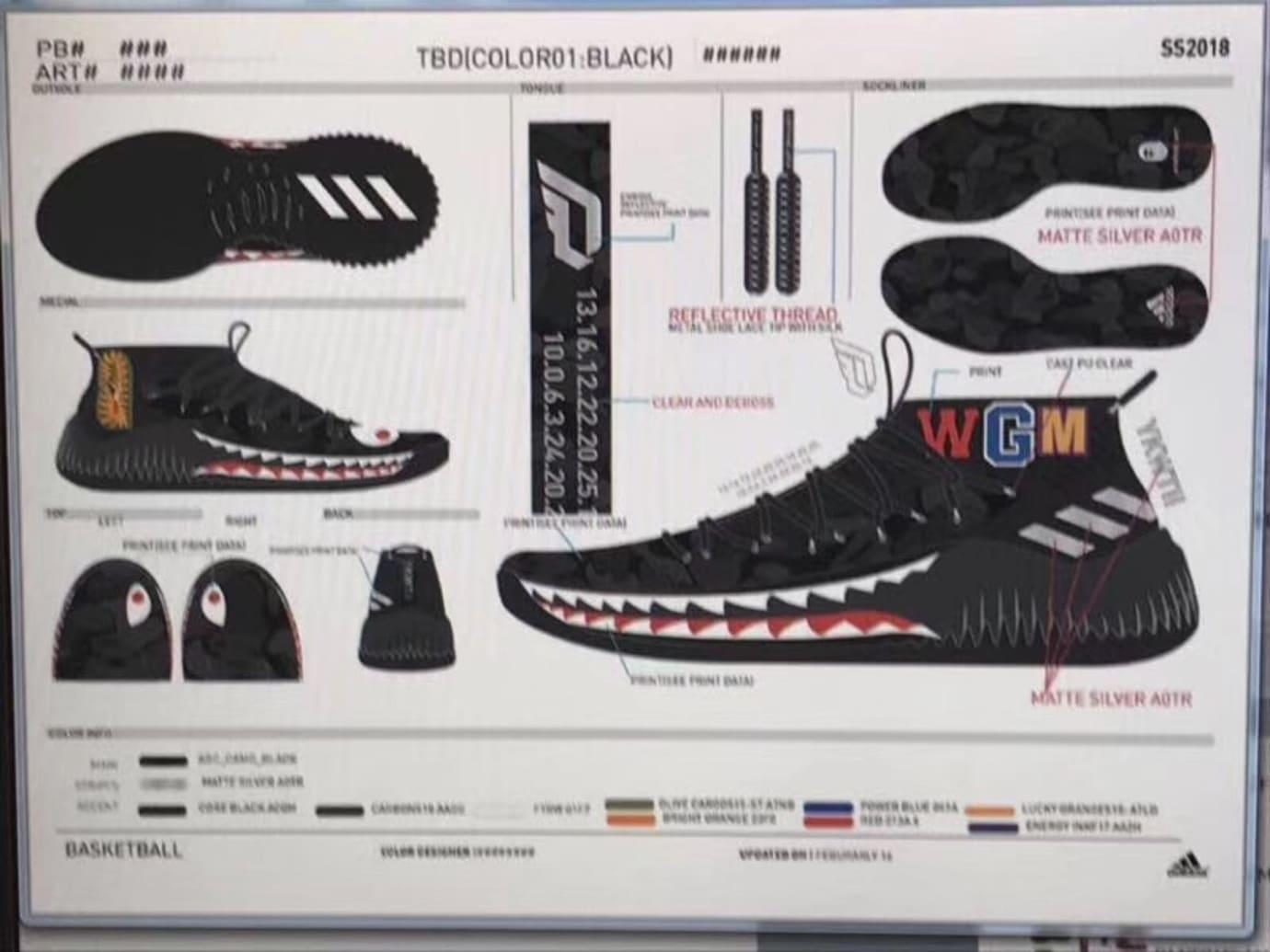 new product 0df74 dd105 Bape Adidas Dame 4