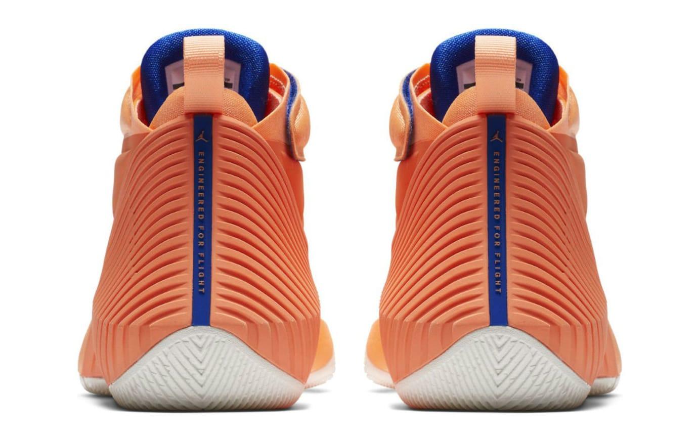 Jordan Fly Next Westbrook OKC Orange Release Date Heel