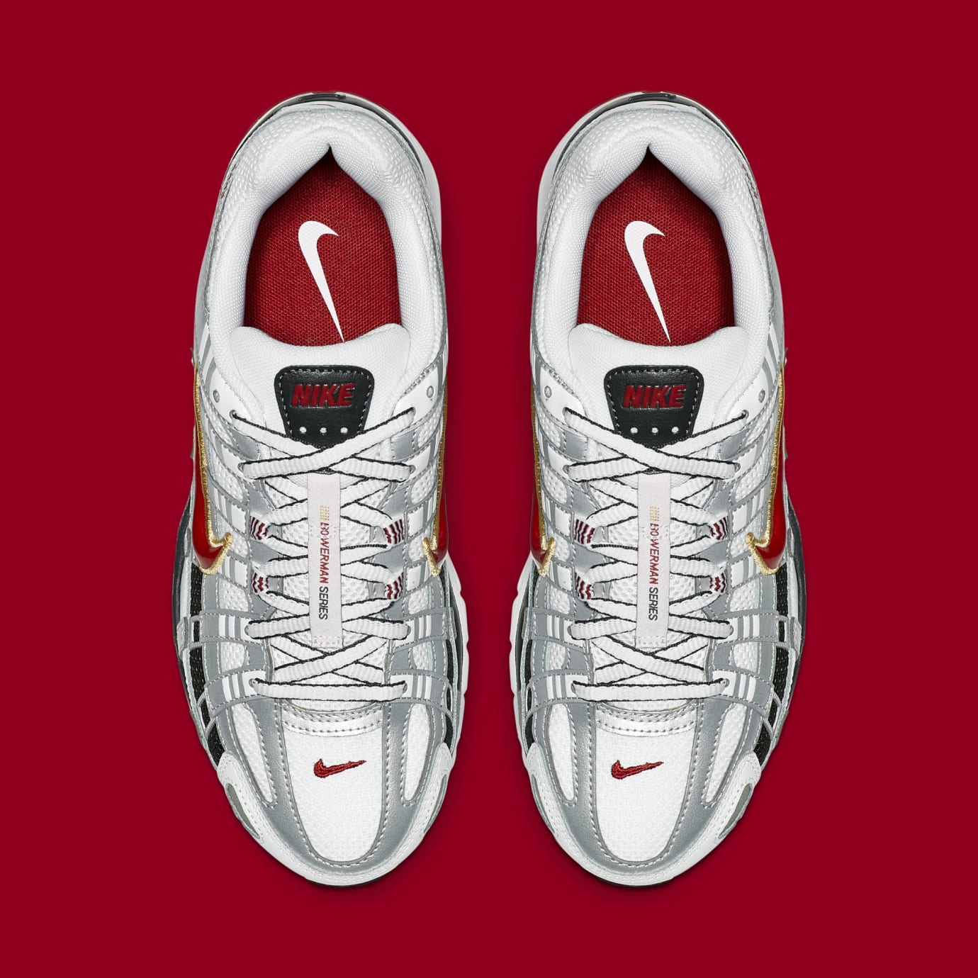 Nike P-6000 CNPT 'Metallic Silver/White/University Red' BV1021-101 (Top)