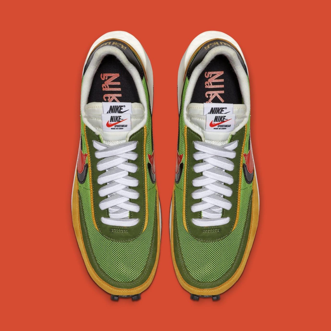 Sacai x Nike LDWaffle 'Green Gusto/Safety Orange/Black' BV0073-300 (Top)