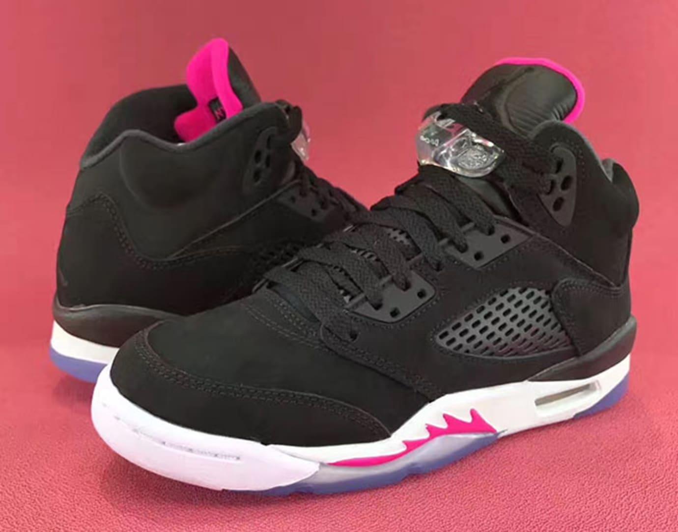 b4214e5caf6039 Air Jordan 5 GS Deadly Pink Release Date Left Heel 440892-029
