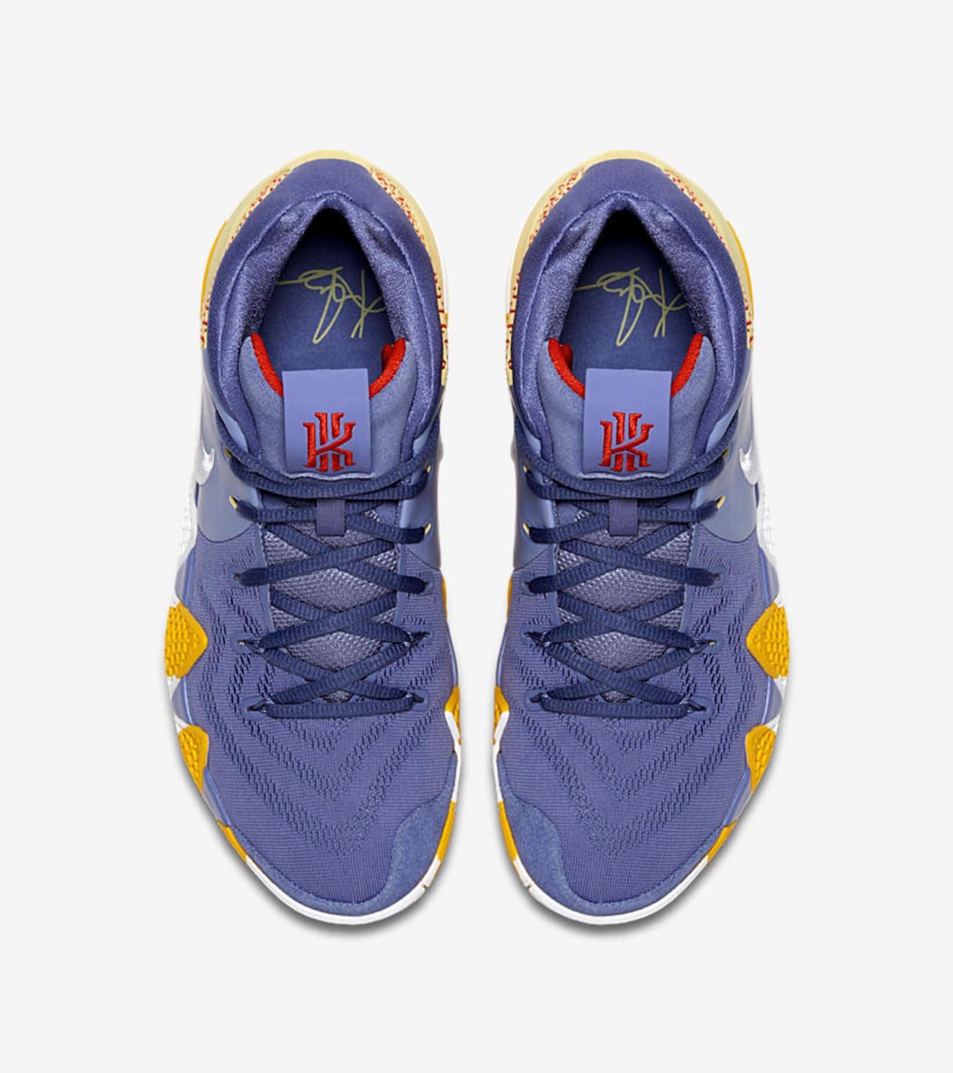 56683abab4b2 Image via Nike Nike Kyrie 4  London PE  AR6189-500 (Top)