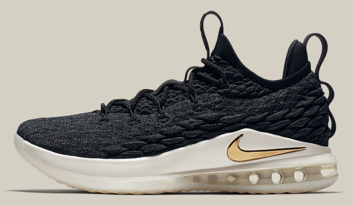 the latest a71f6 b1f25 Nike LeBron 15 Low Black Gold Phantom Release Date AO1756 ...