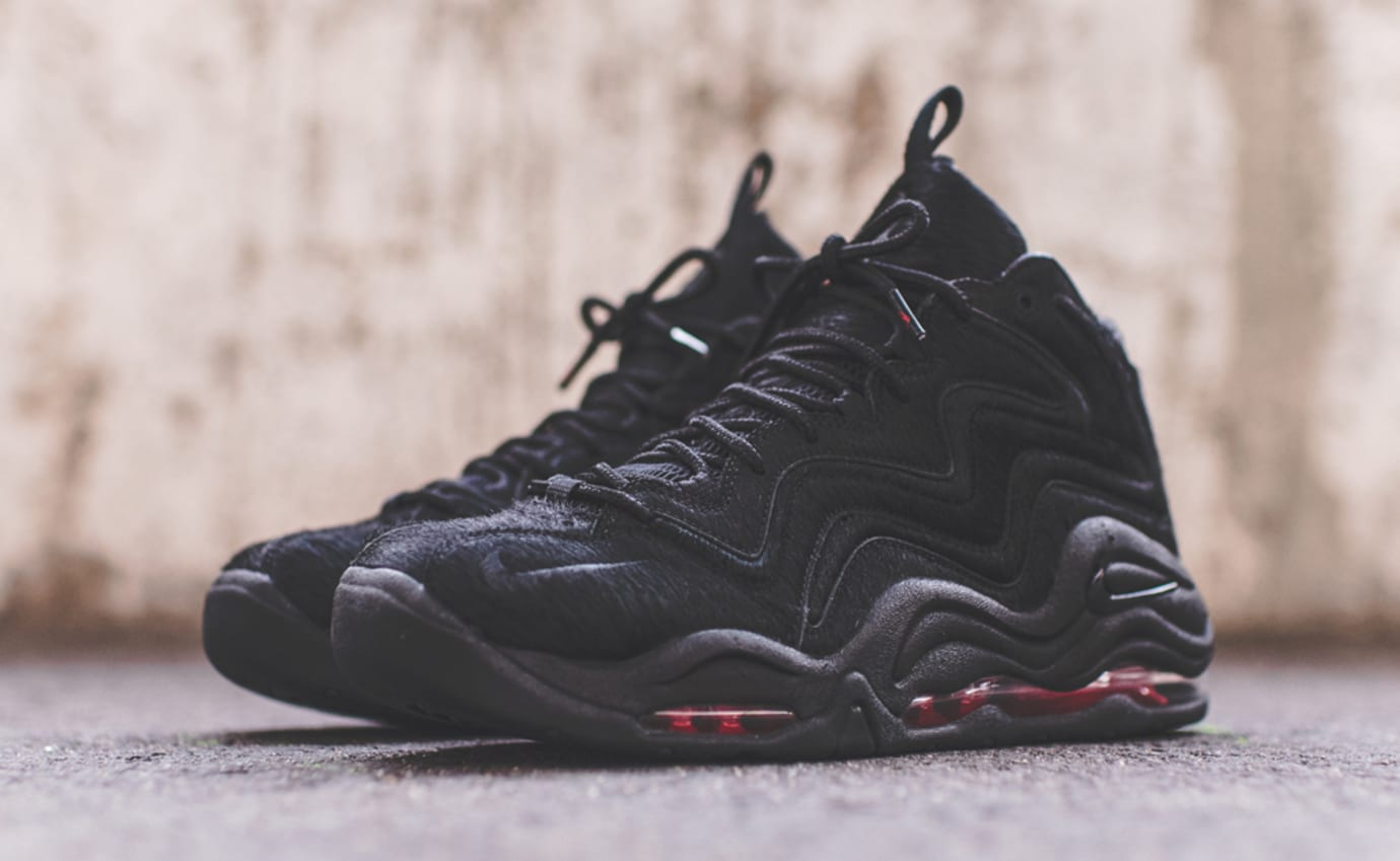 Kith Nike Pippen 1 Black Red Pony Hair 2