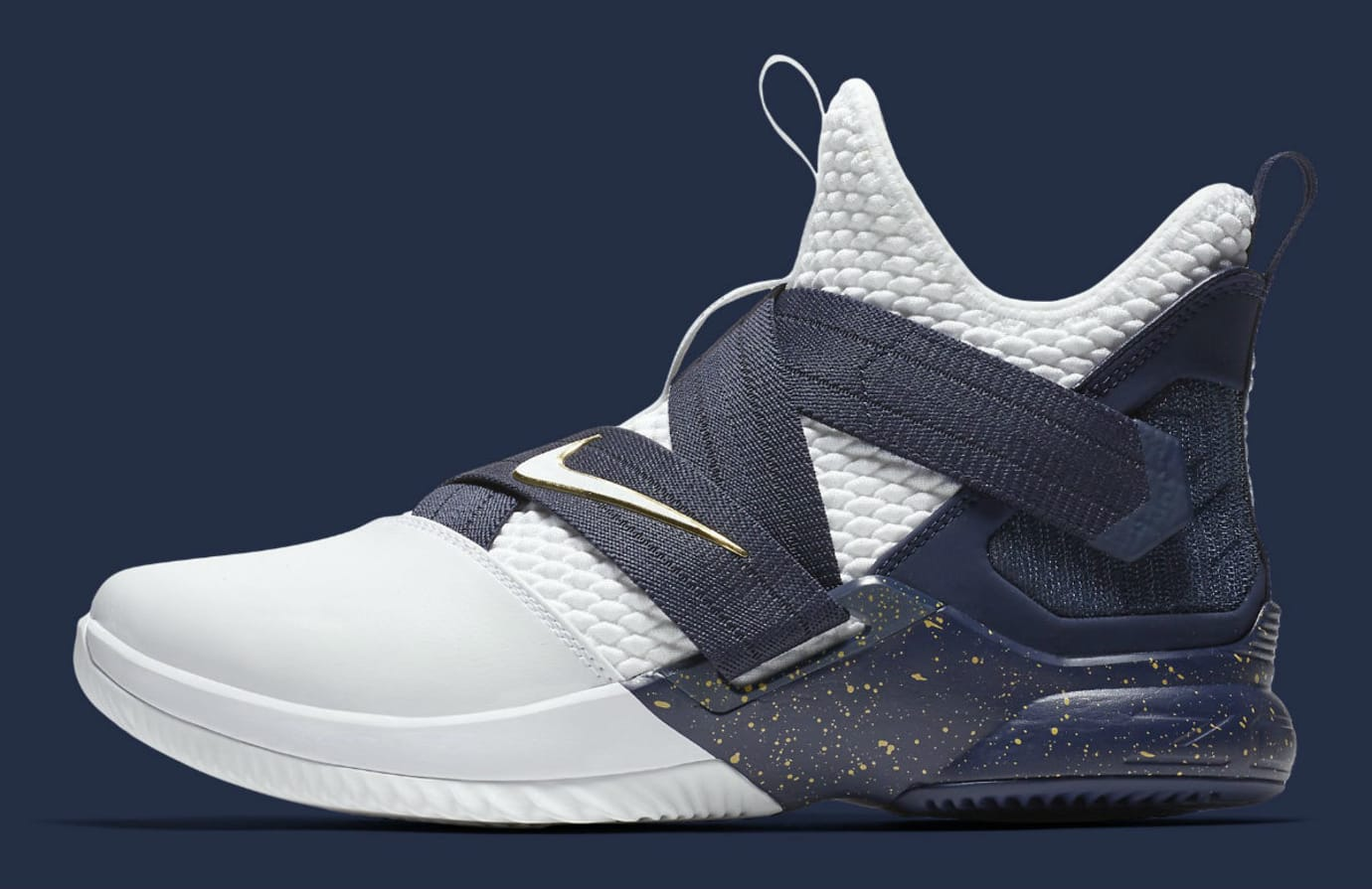 wholesale dealer b6b00 fb789 Nike LeBron Soldier 12 XII Witness Navy Release Date AO4055-100 Profile