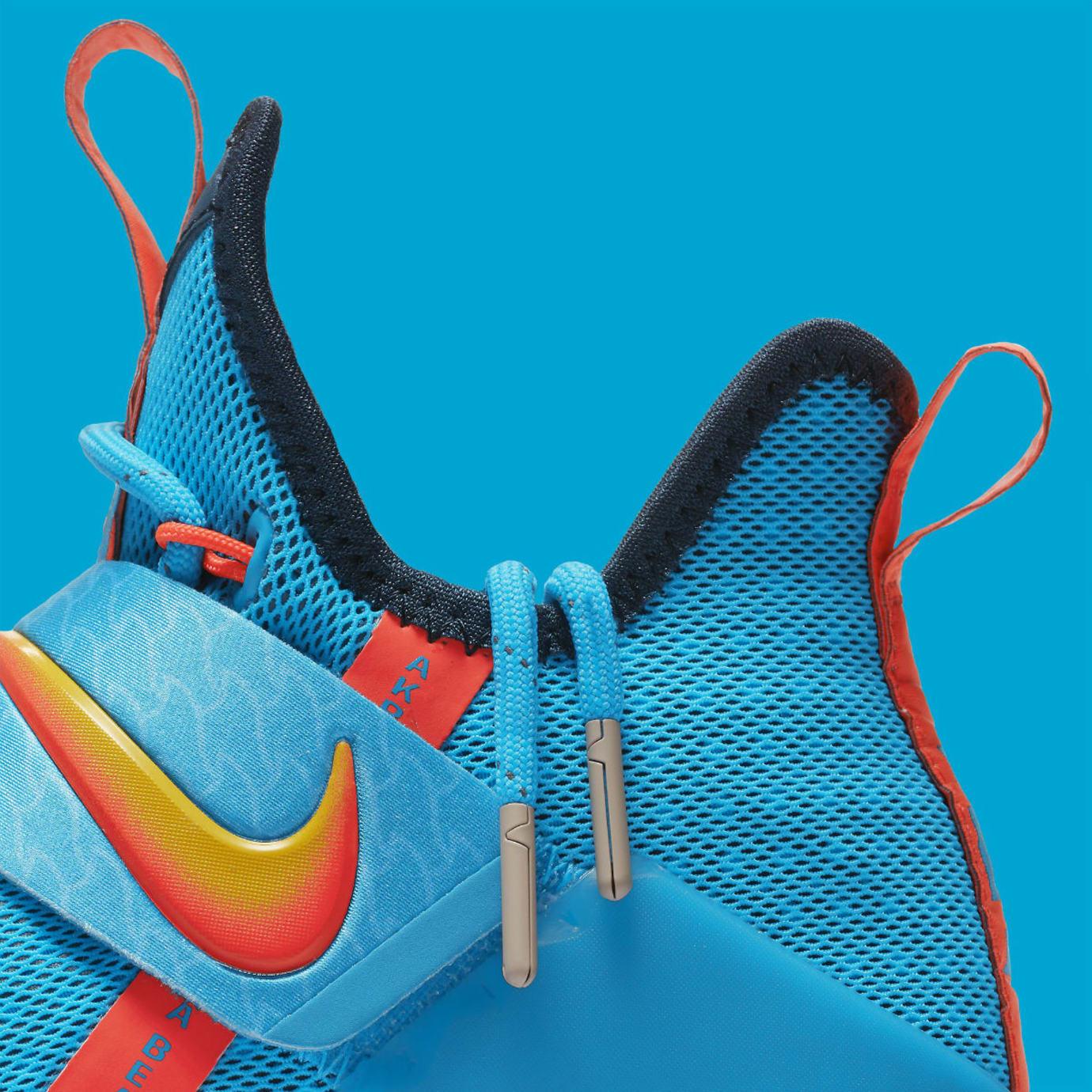 buy online 43a09 e77ad Nike LeBron 14 GS Cocoa Beach Release Date Collar 859468-477