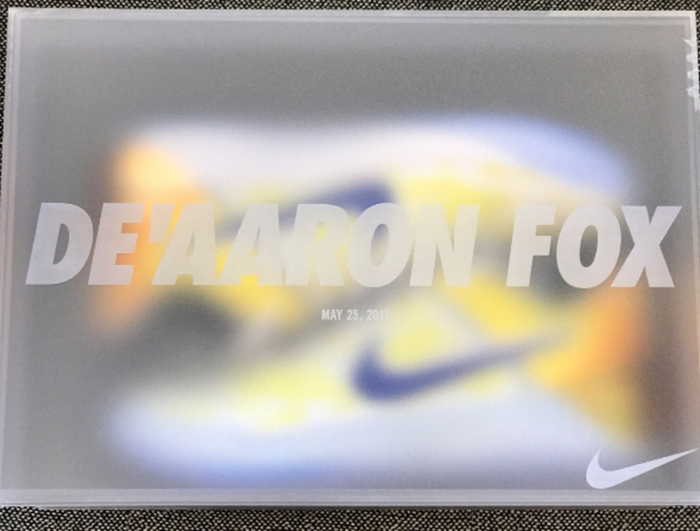 DeAaron Fox Nike Kobe AD Dragon Ball Box