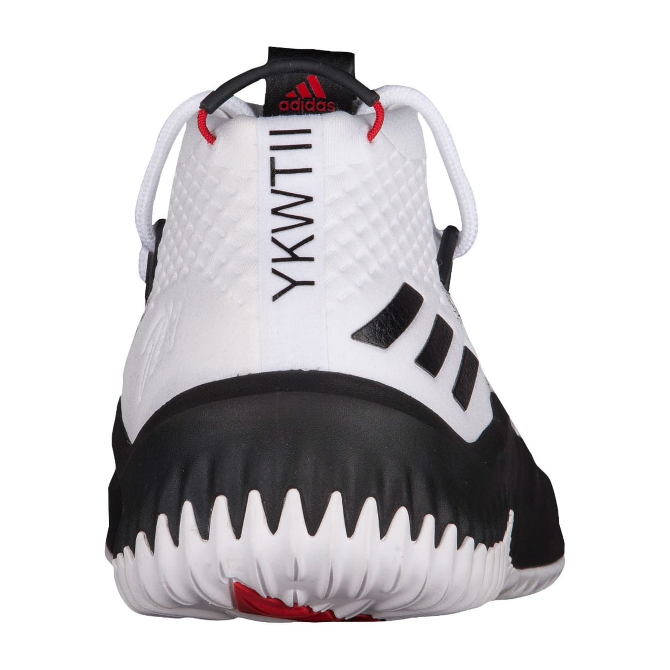 Adidas Dame 4 White Black Red Release Date Heel BY3759