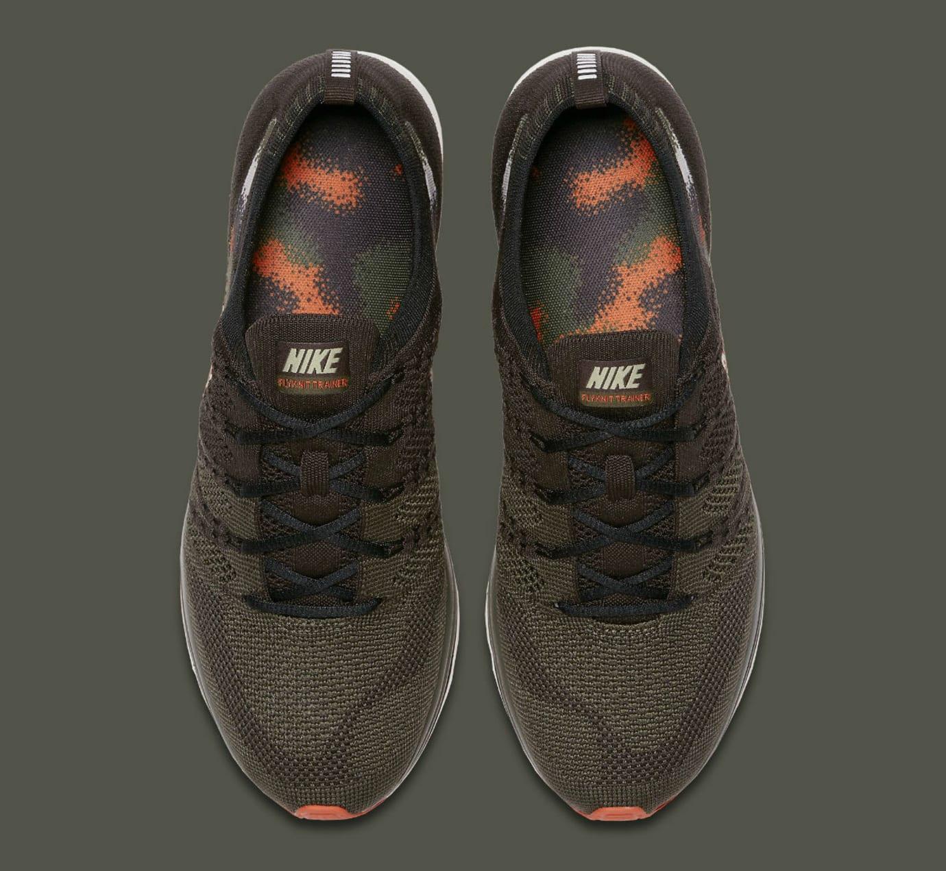 cc32d6b6cf59 Image via Nike Nike Flyknit Trainer Dark Green Release Date AH8396-202 Top