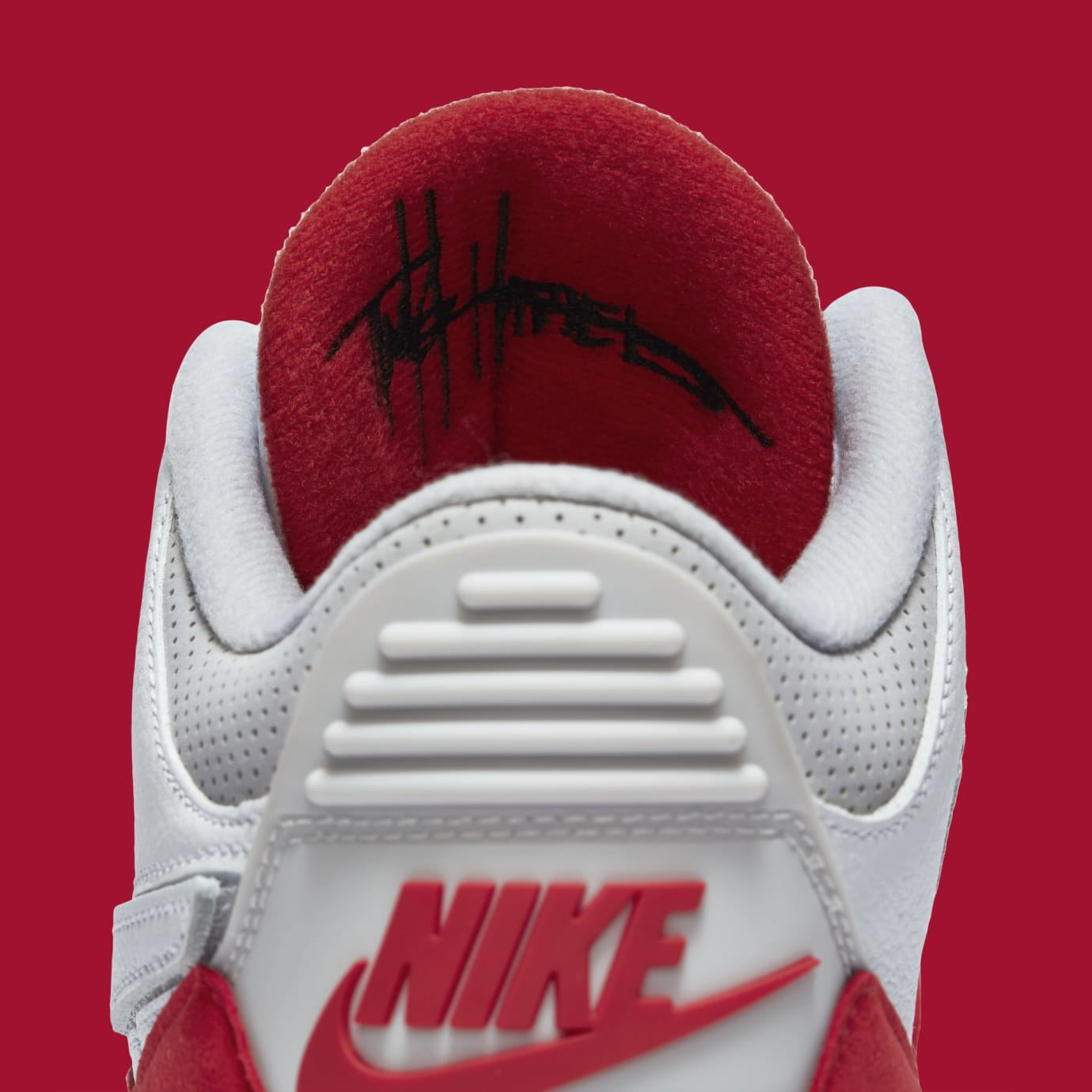 5b2ad6948e05b6 Air Jordan 3 TH SP  Katrina  White University Red-Neutral Grey ...