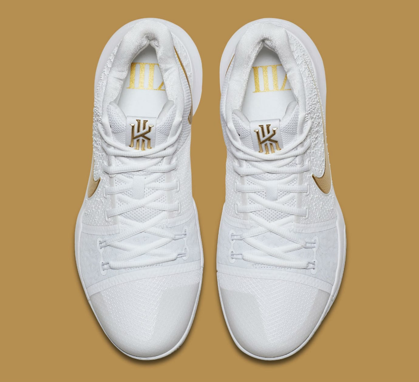 sale retailer 37a7b 94789 Nike Kyrie 3 White Gold Release Date Top 852396-902