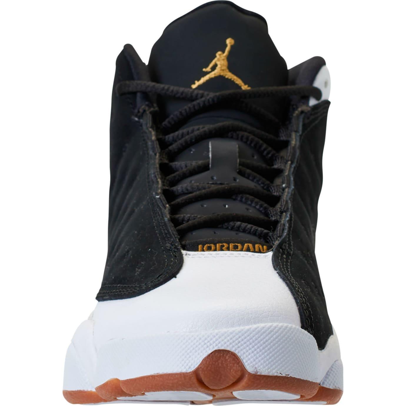 Air Jordan 13 Girls Black Gold White Gum Release Date 439358-021 Front