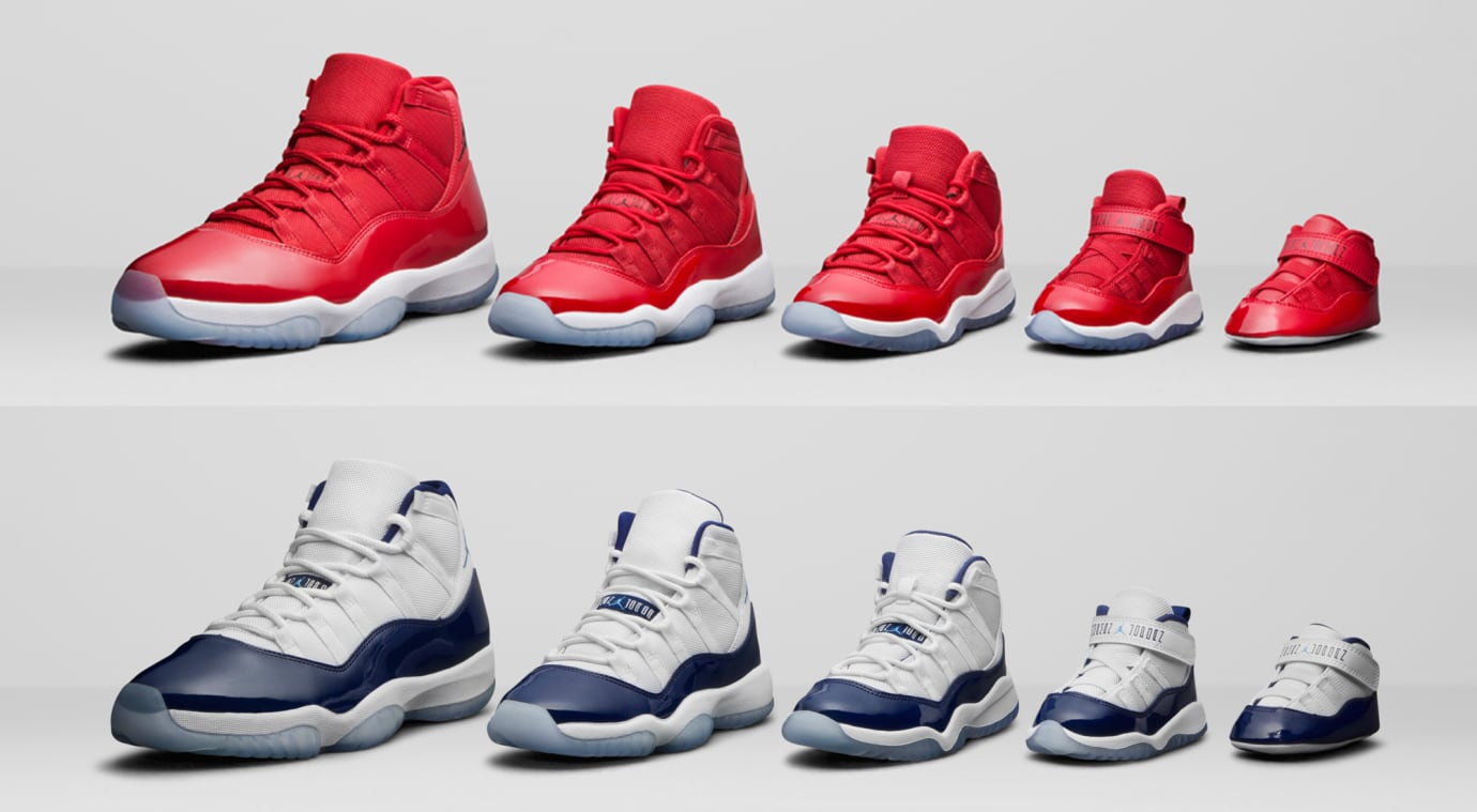 Air Jordan 11 Family Sizing