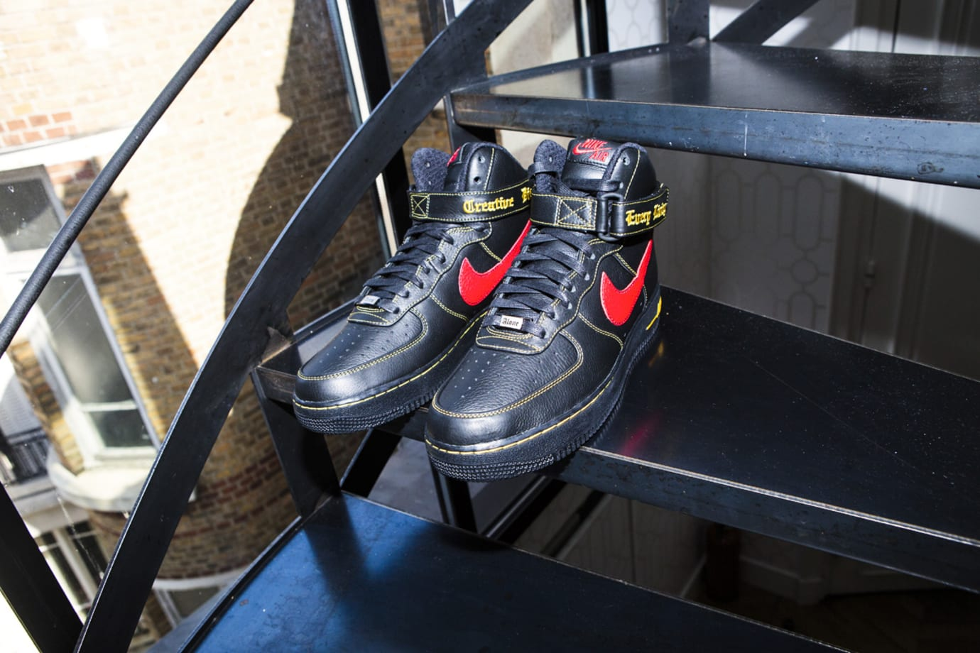 Vlone x Nike Air Force 1 High Black/Red Paris Release (3)