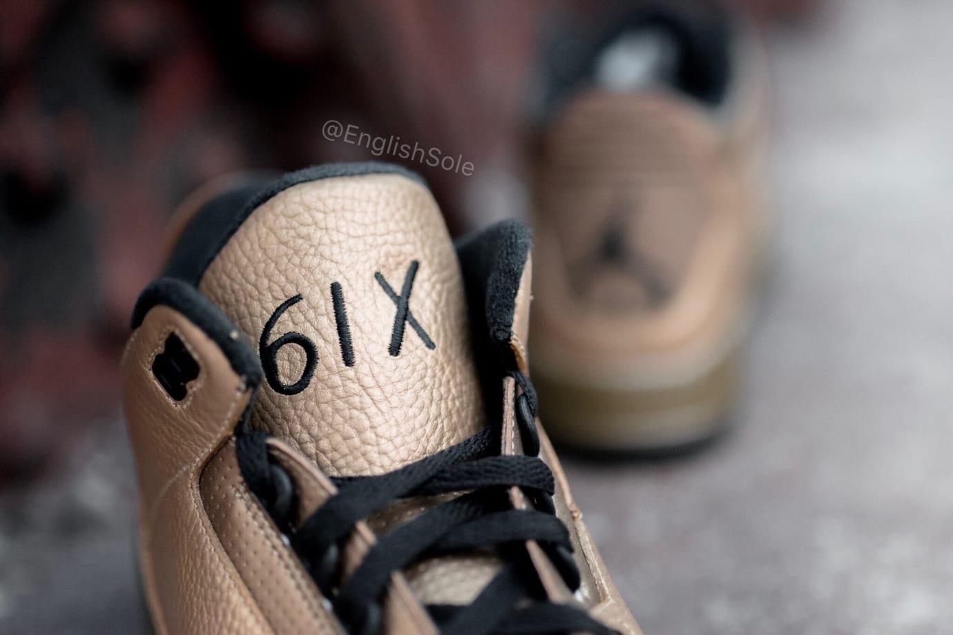 866d673d35b972 Image via  englishsole · OVO x Air Jordan 3  6ix  (Tongue)