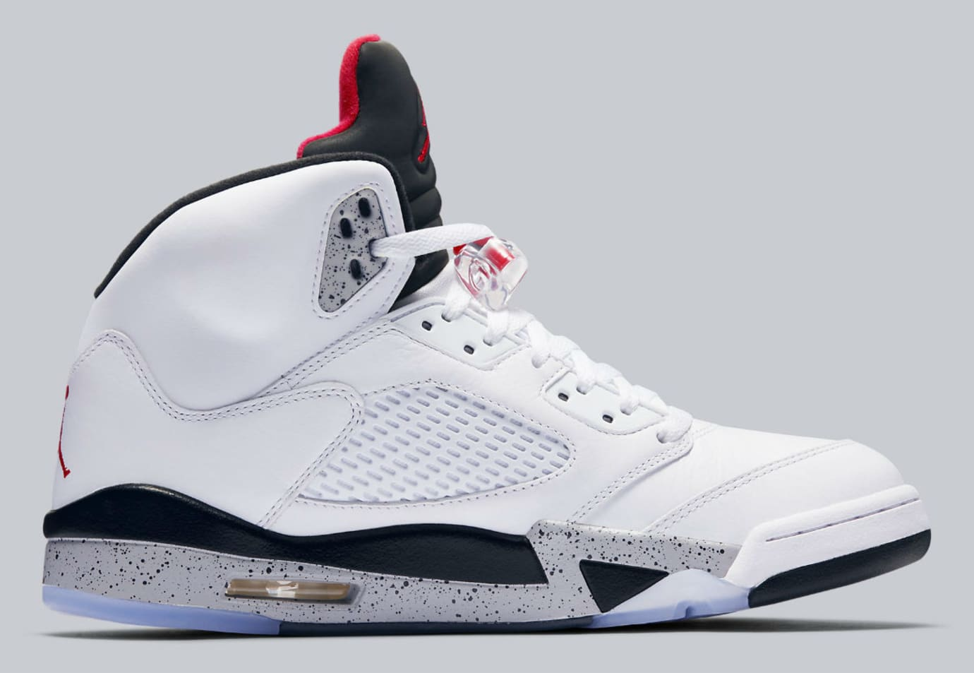 Air Jordan 5 White Cement Release Date Medial 136027-104