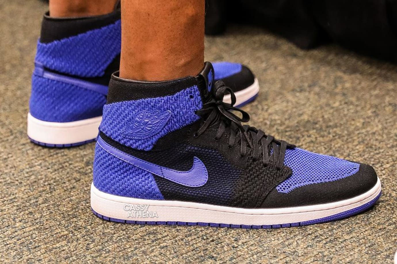 Air Jordan 1 Flyknit Royal On-Foot 919704-006