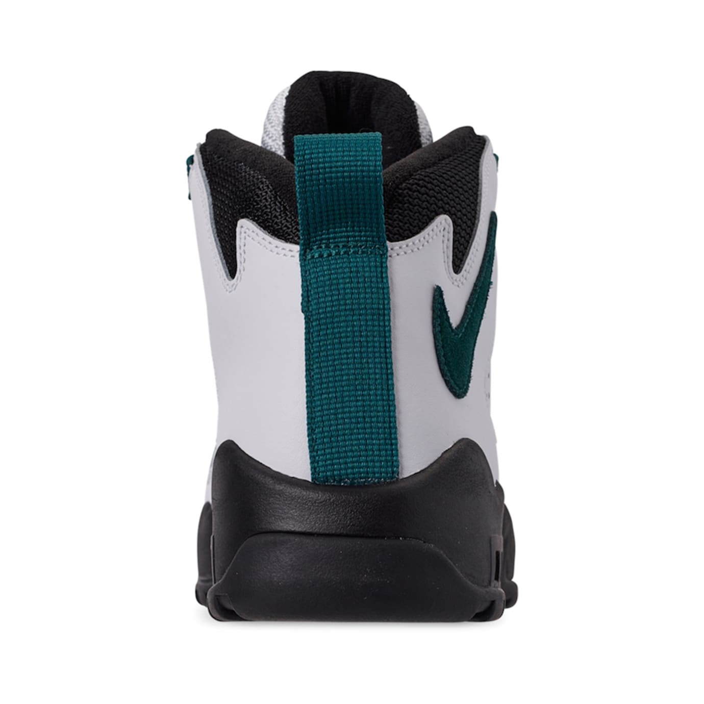 best value f1d4f bdea5 Image via Finish Line Nike Air Darwin  White Teal Black  AJ9710-100 (Heel)