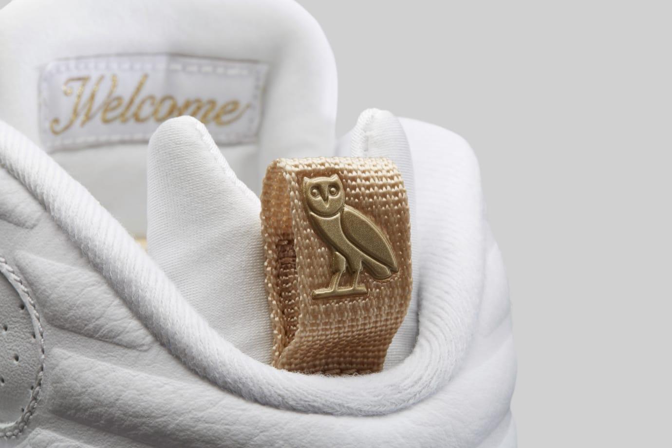 Air Jordan 8 'OVO' White/Metallic Gold-Varsity Red-Blur AA1239-135 (Heel Tab)