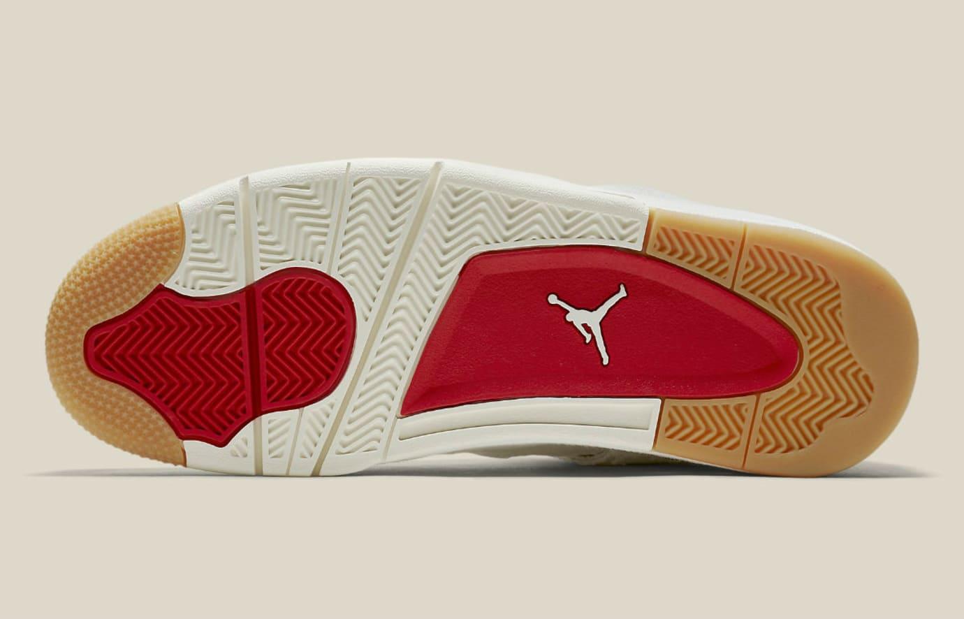 Levi's x Air Jordan 4 White Demin Release Date AO2571-100 Sole