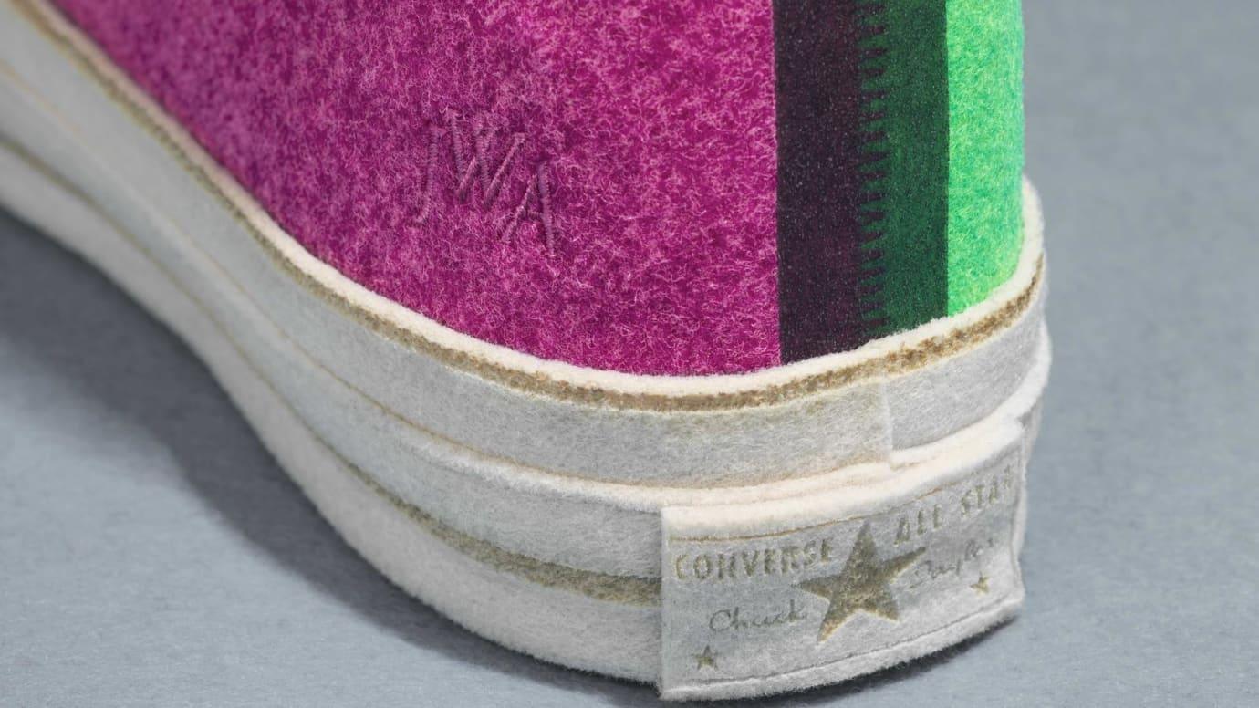 9aecd5f1221 Image via Converse JW Anderson x Converse Chuck 70 Felt  Pink Green  (Heel)