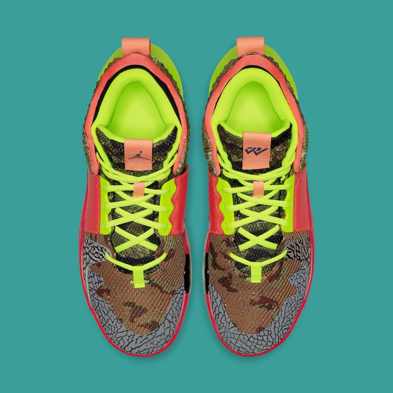 e5f499075199b3 Jordan Why Not Zer0.2  All-Star  Camo Green Hyper Turquoise-Volt ...