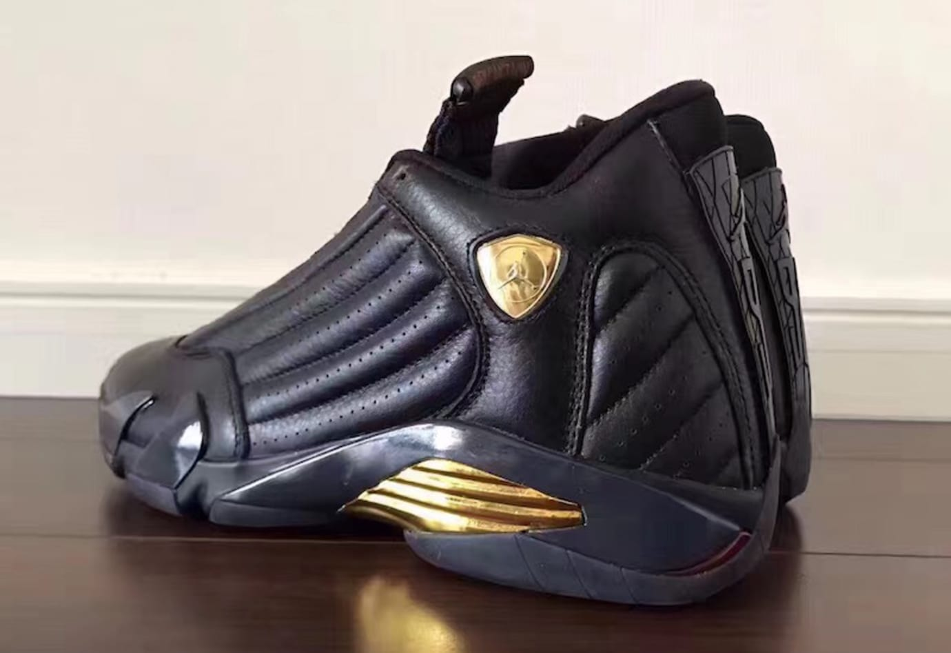 67a8304abef350 Air Jordan 14 Defining Moments Black Gold Release Date 487471-022 (1)